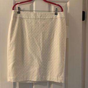 NWT Ann Taylor Dot Jacquard Pencil Skirt Size 12